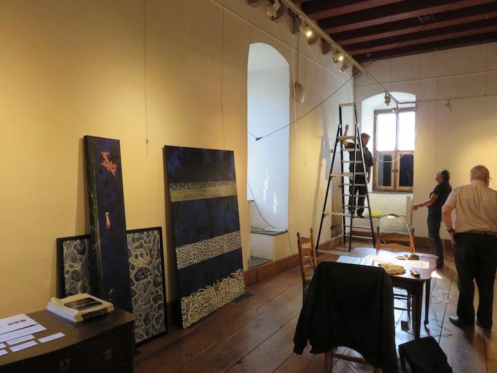 Inrichten van de tentoonstelling