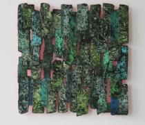 Papierstructuur met kleurreflectie
